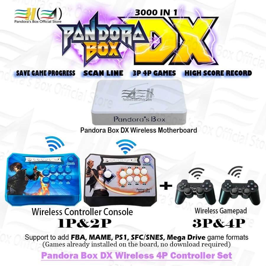 Pandora's Box Wireless Arcade Stick Console 4 Player